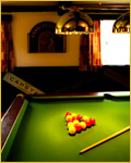 photo of the pool table at Three Horseshoes, Allensmore near Hereford